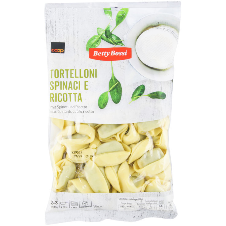 Ravioli without Meat - Betty Bossi Spinach & Ricotta Tortellini
