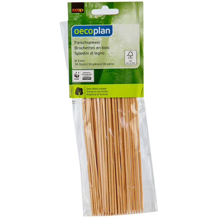 Ladles & Skewers - Oecoplan FSC Wood Skewers 25cm