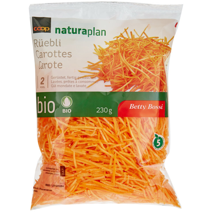 Prepared Vegetables - Naturaplan Organic Betty Bossi Shredded Carrots