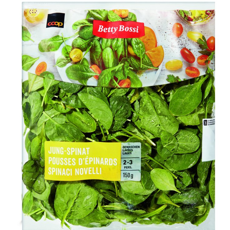Abgepackte Salate - Betty Bossi Jung-Spinat