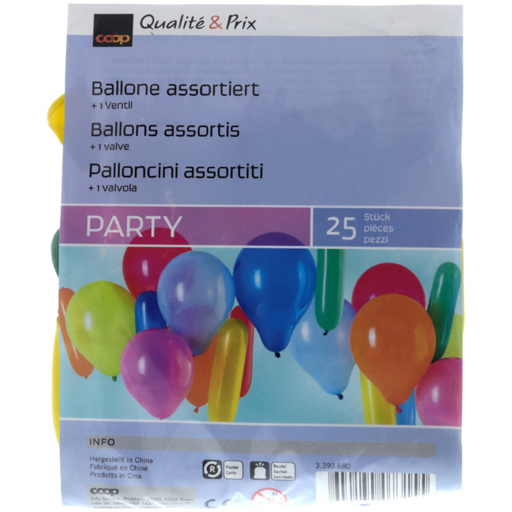 Party Decorations - Assorted Balloons 25 Pieces