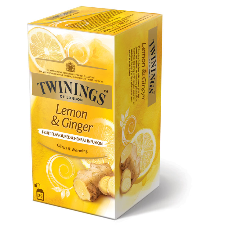 Citrus Fruit Tea - Twinings Lemon Ginger Tea 25 Portions