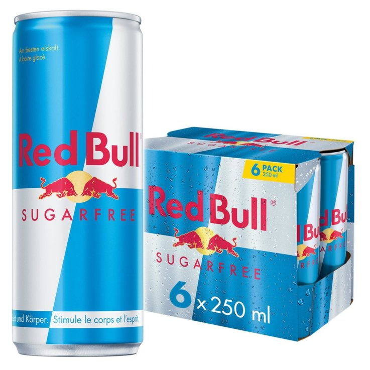 Energy drink - Red Bull Energy Drink senza zucchero 6x25cl