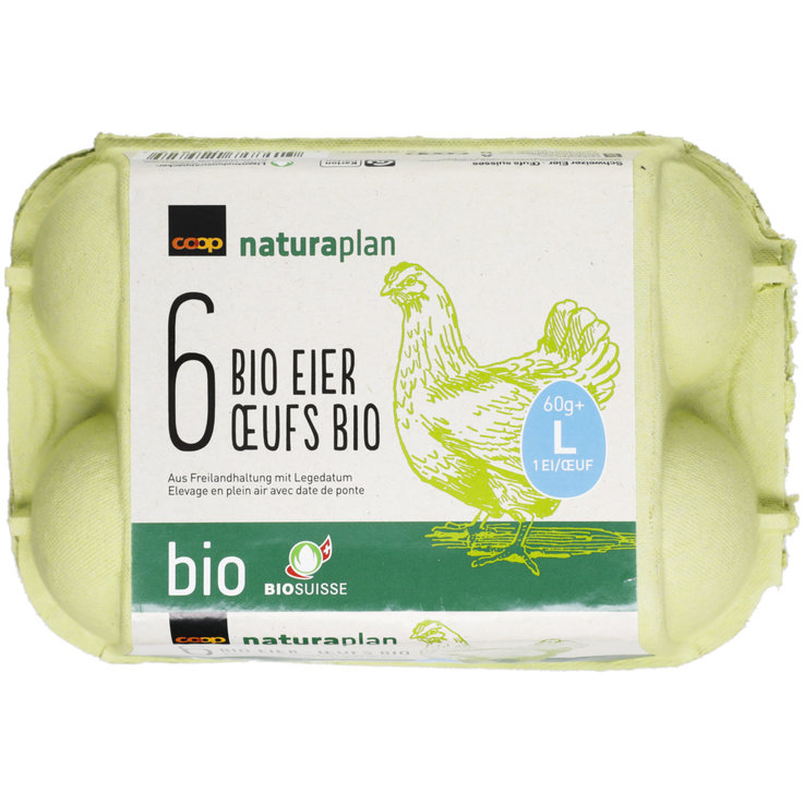 Raw Eggs - Naturaplan Organic Free Range Eggs 63g+ 6 Pieces