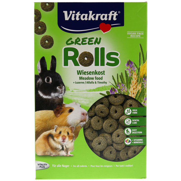 Guinea Pigs - Vitakraft Green Rolls for Rodents 500 g