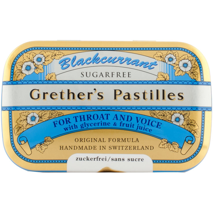 Soft Sweets & Lozenges - Grether's Sugarfree Blackcurrant Throat Lozenges