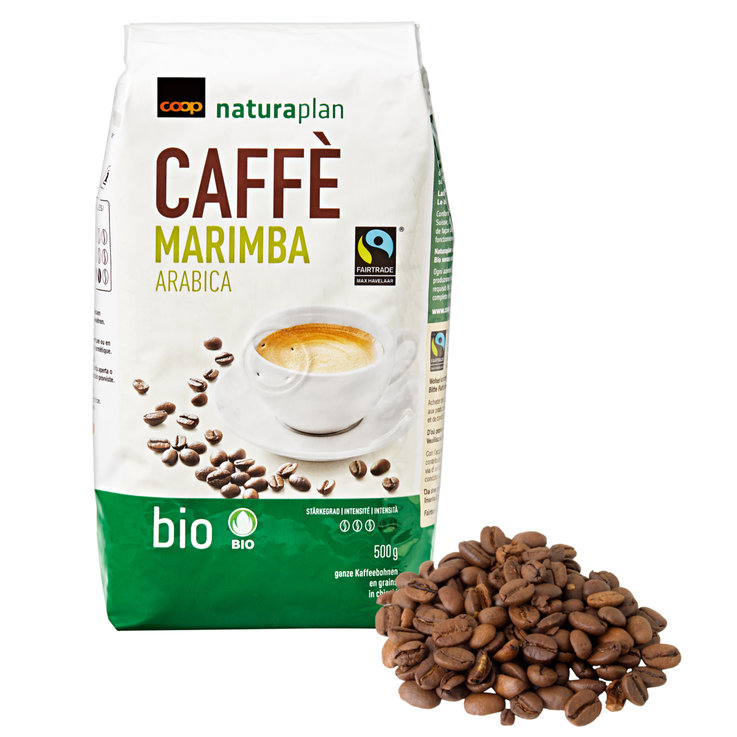 Café en grains - Naturaplan Bio Fairtrade Café Marimba en grains