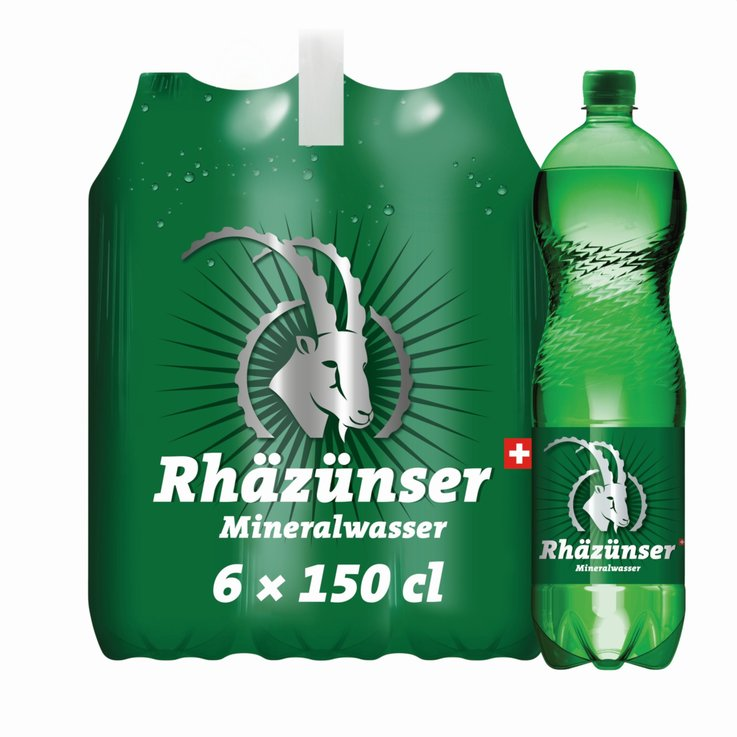 Multipacks more than 1 Liter - Rhäzünser Carbonated Mineral Water 6x1.5l