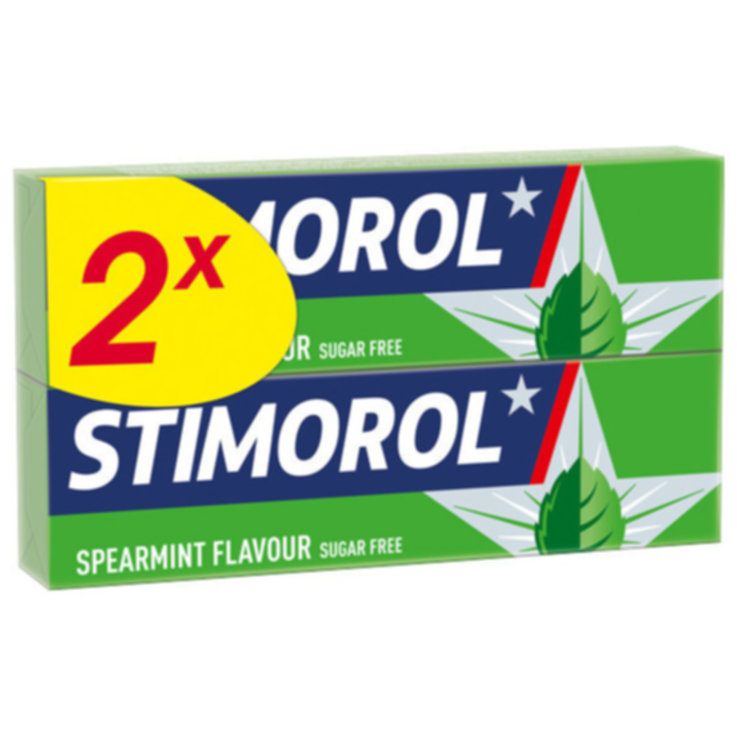 Chewing Gum - Stimorol Chewing Gum Spearmint no added sugar 2x24-pack