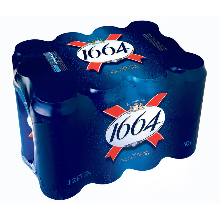 Cans - Kronenbourg 1664 Beer 12x50cl