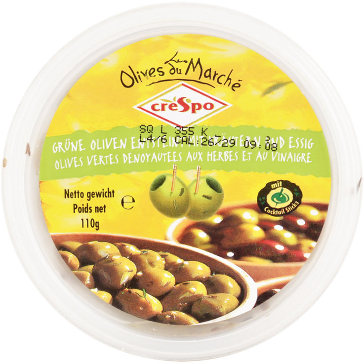 Olives - Crespo Pitted Green Olives with Herbs & Vinegar