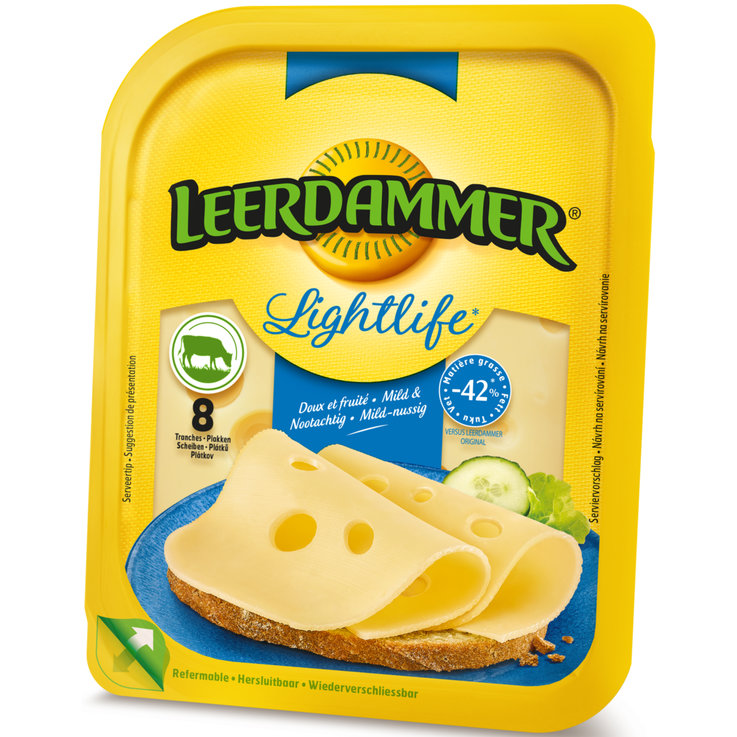 Fromages en tranches - Leerdammer Fromage léger Lightlife 8 tranches