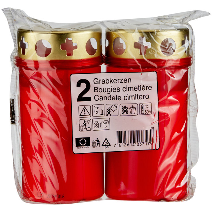Tealights - Red Grave Lights 2 per pack