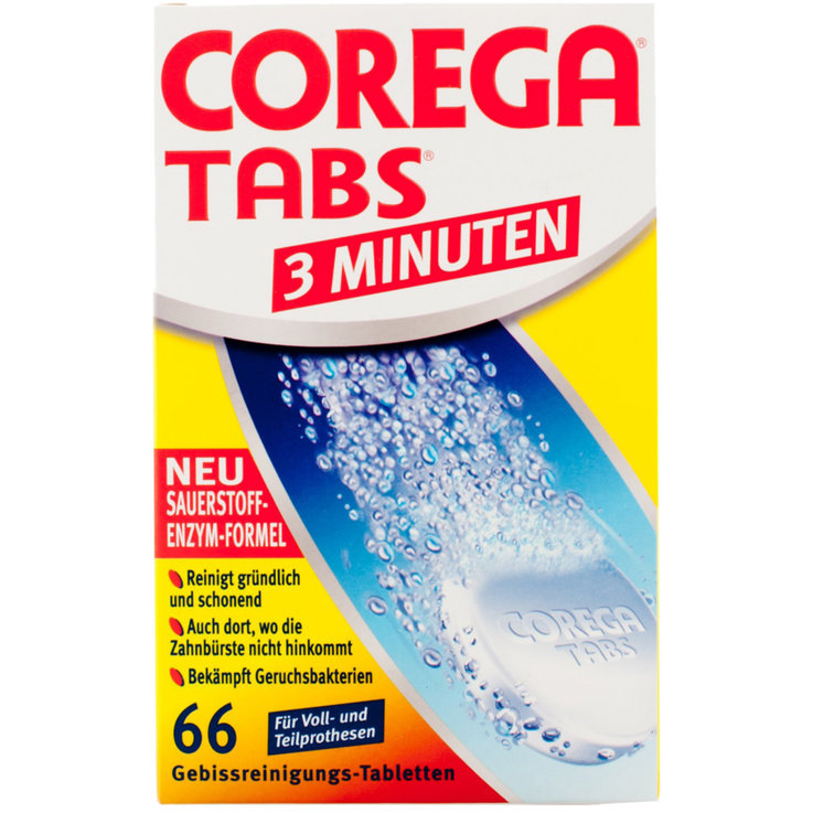Dentistry Products - Corega 3-Minute Dental Protheses Cleaning Tablets 66 pieces