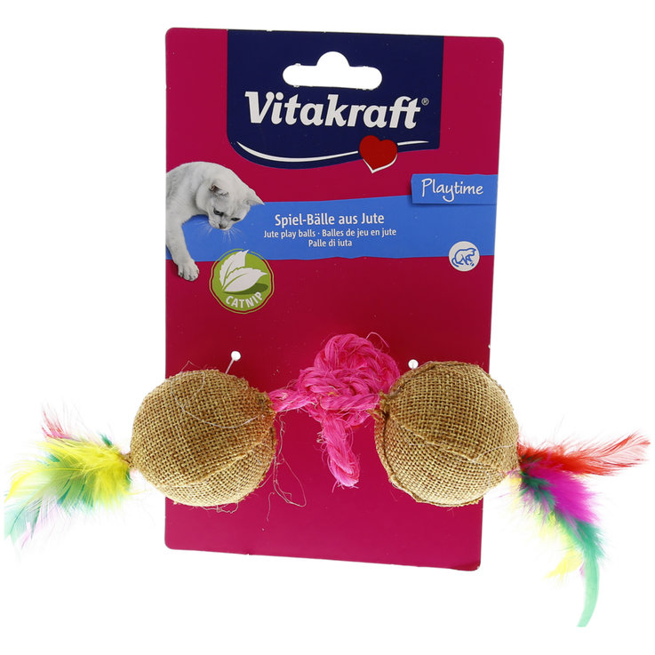 Toys - Vitakraft Jute Balls with Catnip