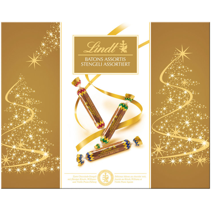 Pralines with Alcohol - Lindt Chocolate Sticks with Assorted Liqueurs 32 Pieces