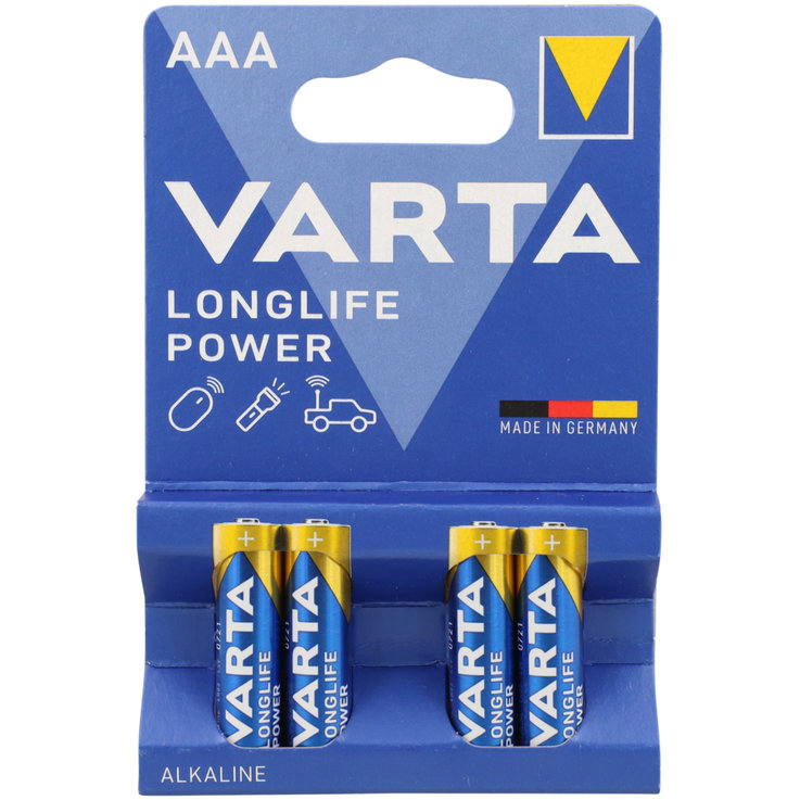 AAA - Varta Longlife Power AAA/LR03 Batteries 4 Pieces