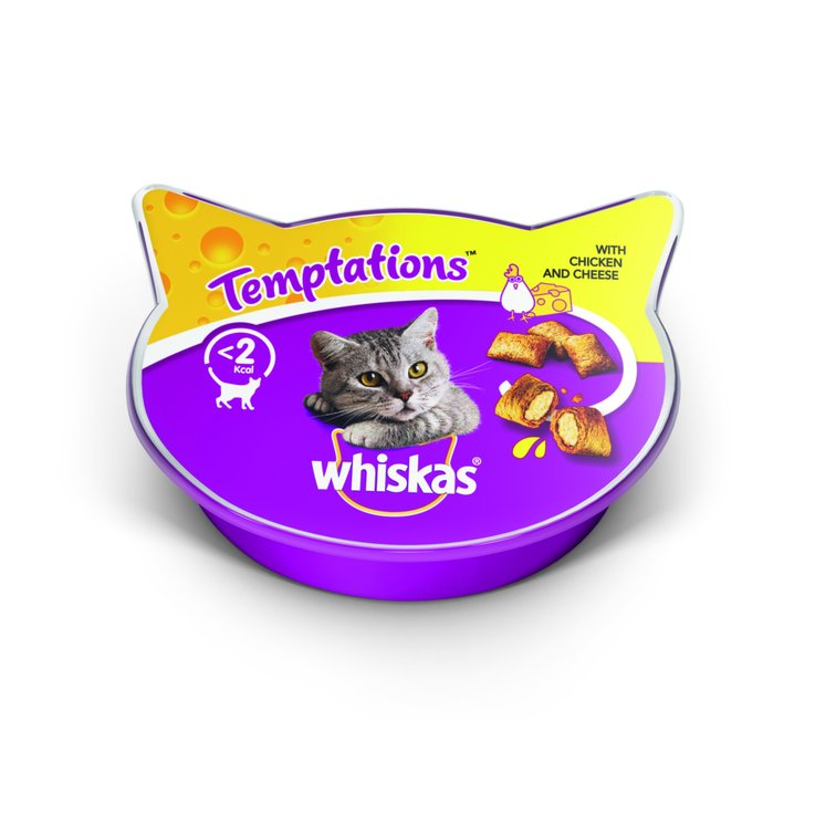 Snacks and Cat Milk - Whiskas Temptations Chicken & Cheese Flavoured Cat Treats