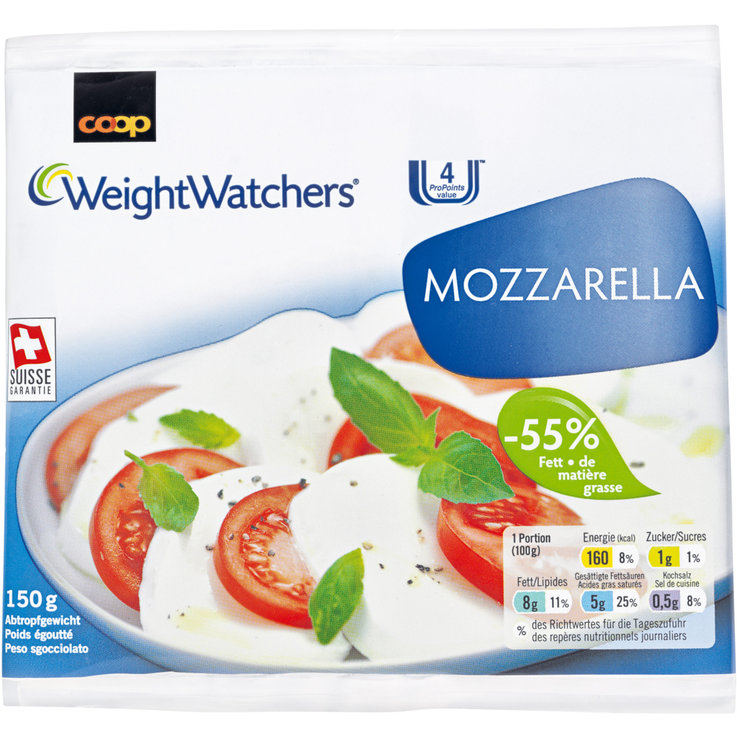 Mozzarella & Ricotta - Weight Watchers Mozzarella -55% Fett