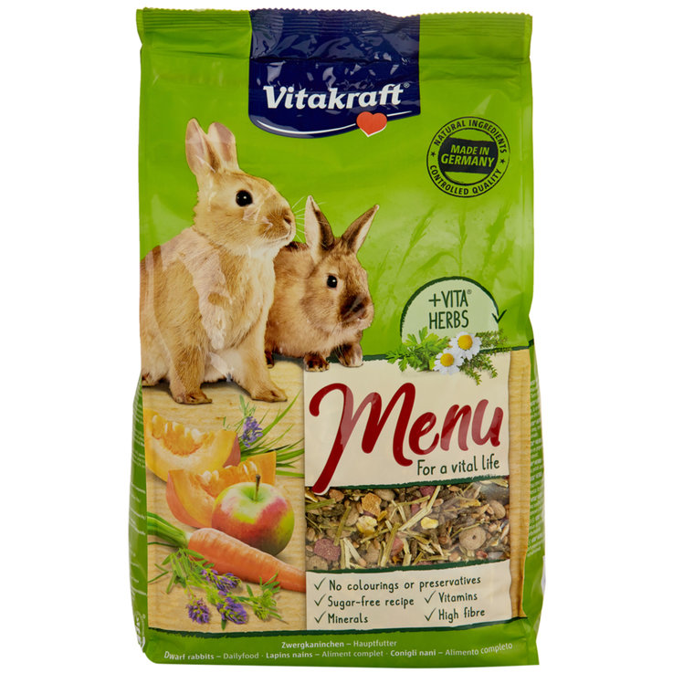 Rabbits - Vitakraft Premium Menu Vital for Dwarf Rabbits 1 kg