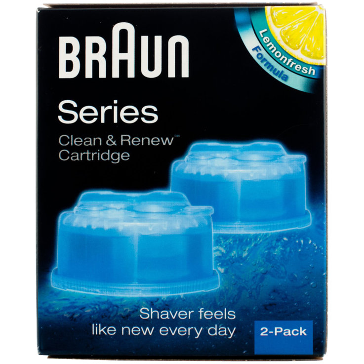 Razor Blades - Braun Clean&Charge CCR2 Cleaning Refill Pack of 2