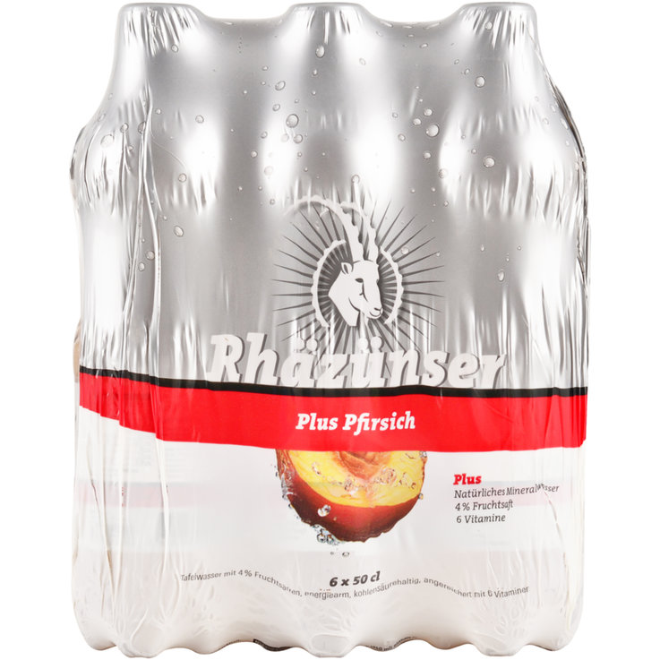 Multipacks unter 1 Liter - Rhäzünser Plus Peach 6x50cl