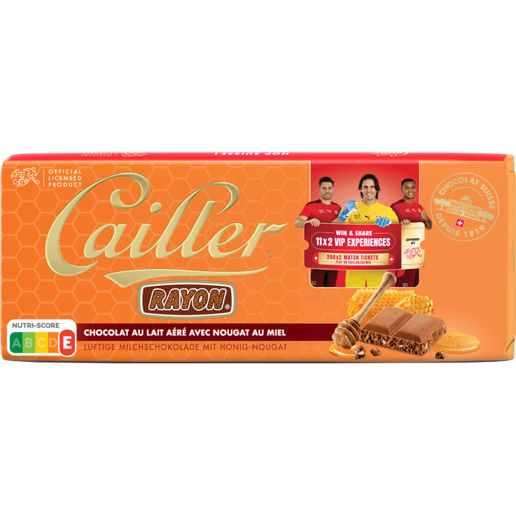 Milk - Cailler Rayon Milk Chocolate with Honey Nougat