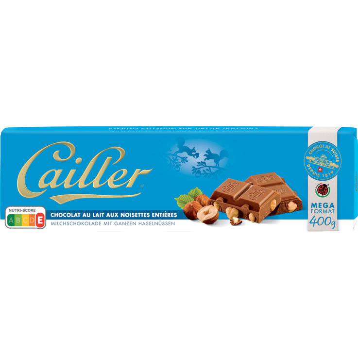 Milk with Nuts - Cailler Milk Chocolate Bar with Hazelnuts