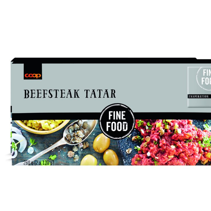 Meat Products - Fine Food Frozen Beefsteak Tartar 2 Pieces