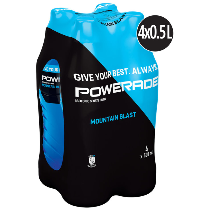 Multipacks de moins d'un litre - Powerade Brevage sportif Mountain Blast 4x50cl