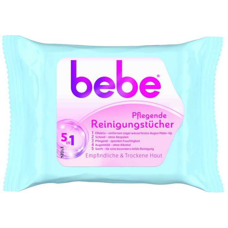 Cleansing Wipes - Bebe Young Care Makeup Remover Wipes for Sensitive Skin 25 pieces