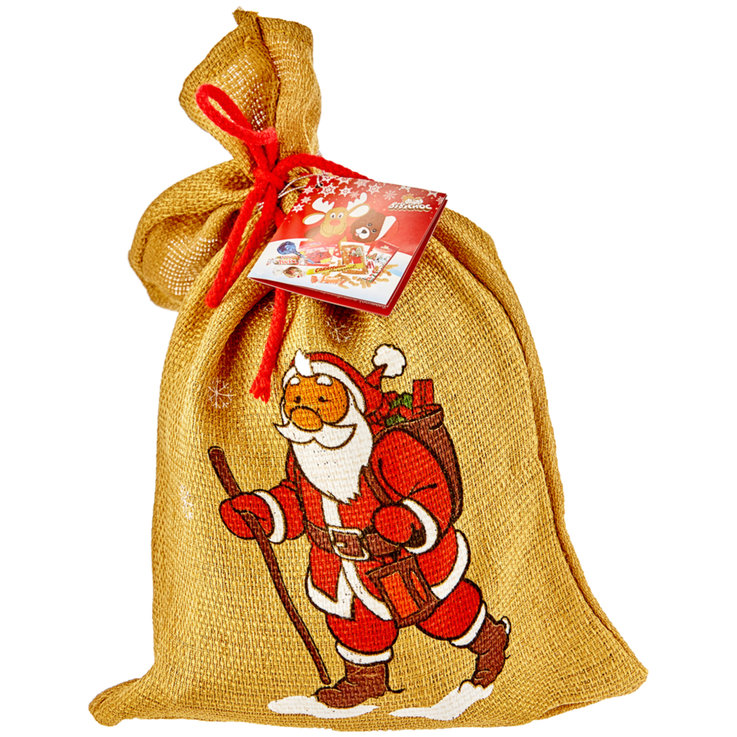 St. Nicholas Sacks (Filled) - Jute St. Nicolas Treat Bag