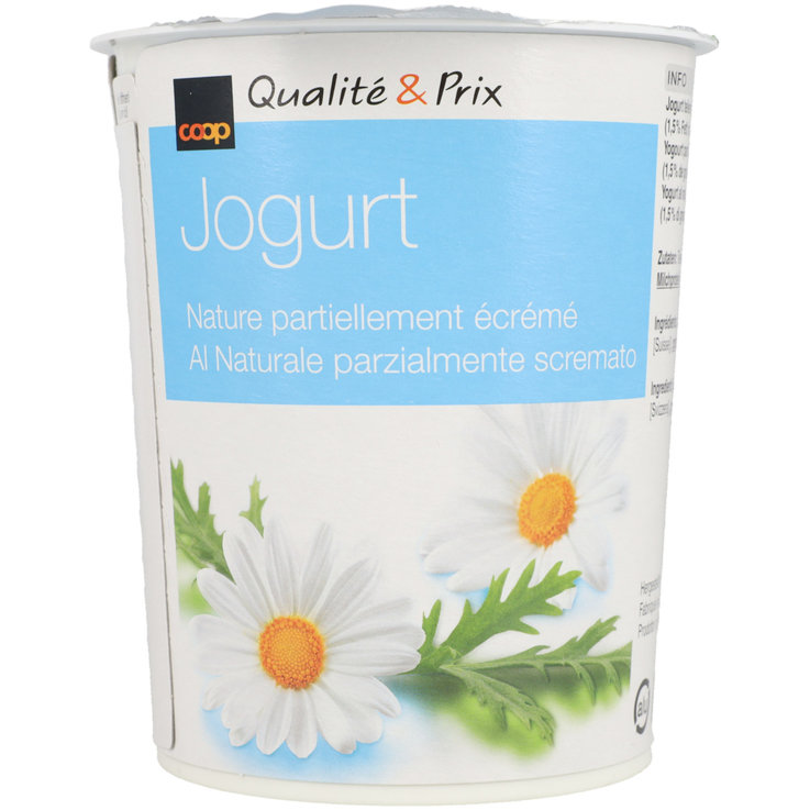 Natural Yogurt - Natural Partially Skimmed Yogurt