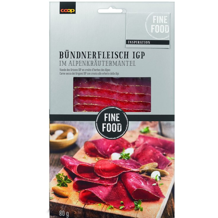 Grisons Meat - Fine Food Alpine Herbs Crusted Grisons Dried Meat
