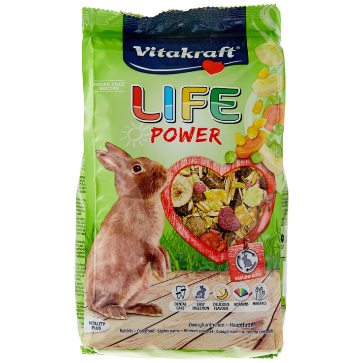 Rabbits - Vitakraft Life Power Dwarf Rabbit Food
