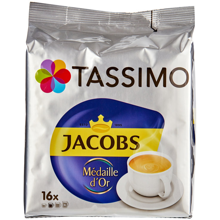 Compatible avec Tassimo - Tassimo Jacobs Café Médaille d'Or Rainforest Alliance 16 portions