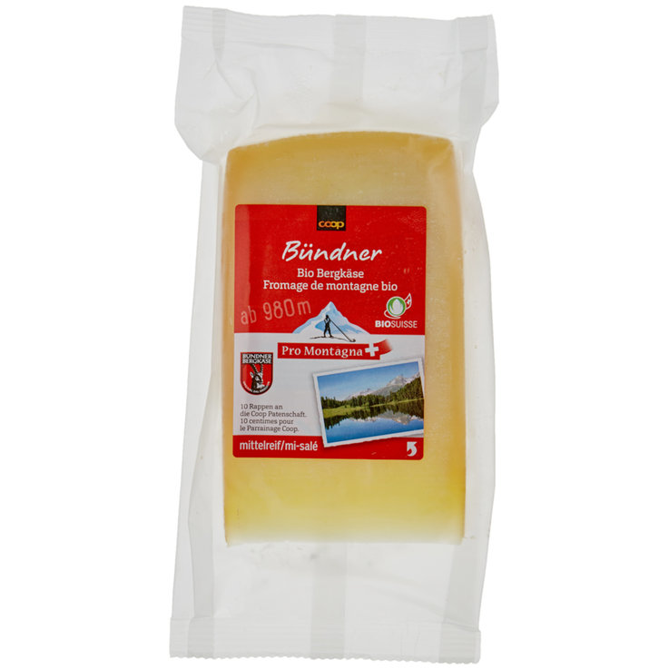 Hard & Semi-Hard Cheese - Pro Montagna Organic Grisons Mountain Cheese ca. 200g