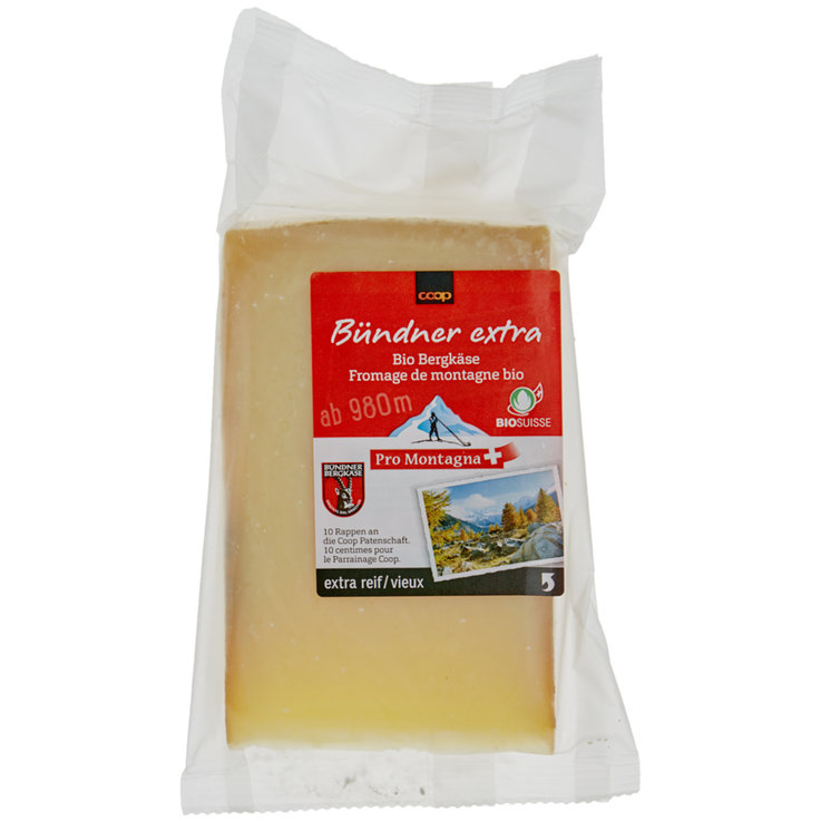 Alpine Cheese - Pro Montagna Organic Grisons Extra Mountain Cheese ca. 250g