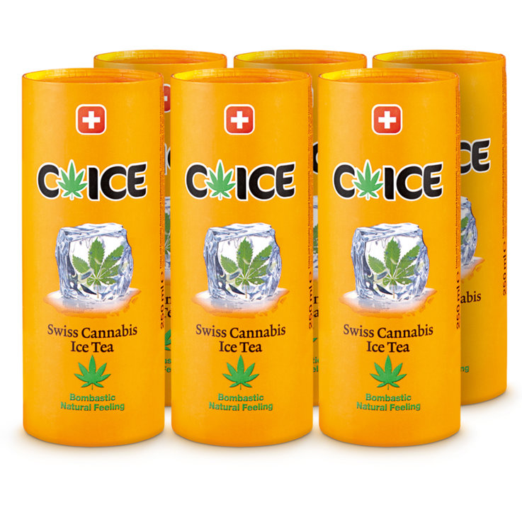 Special Ice Tea - C'ICE Swiss Hemp Ice Tea 6x  25cl