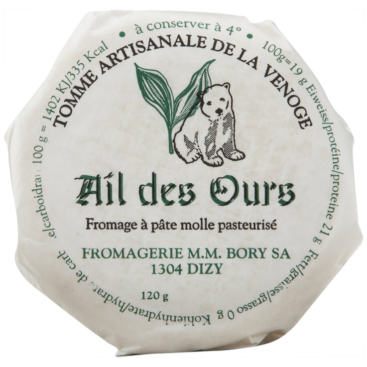 White Mould Cheese - Bory Pasteurized Wild Garlic Tomme Cheese