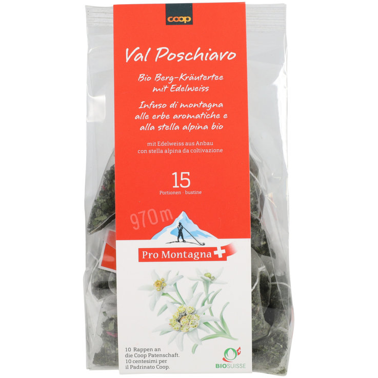 Herbal Tea - Pro Montagna Mountain Herbal Tea with Edelweiss 15 Bags