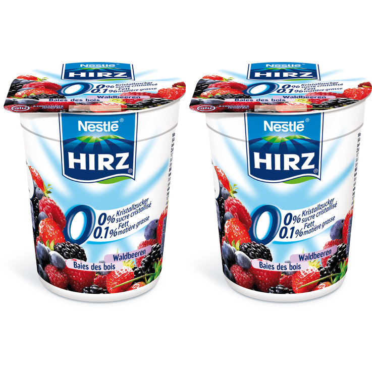 Forest & Garden Berries - Hirz Wildberry Yogurts 0% Fat 2x180g