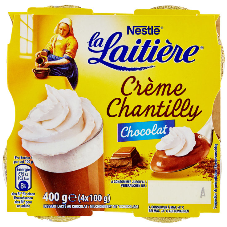 Cream & Mousse - La Laitière Chocolate Viennois 4x100g