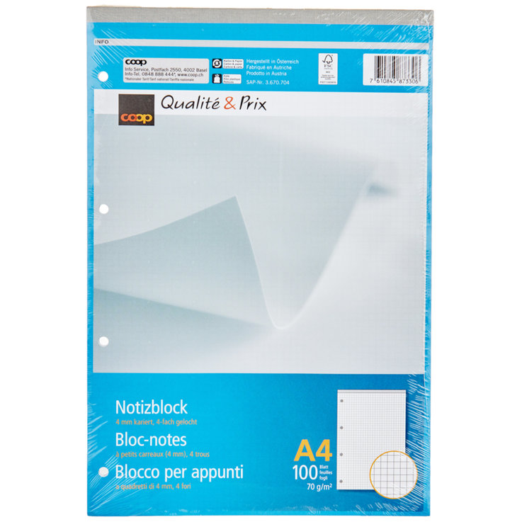 Blocks - A4 FSC Perforated Note Pad