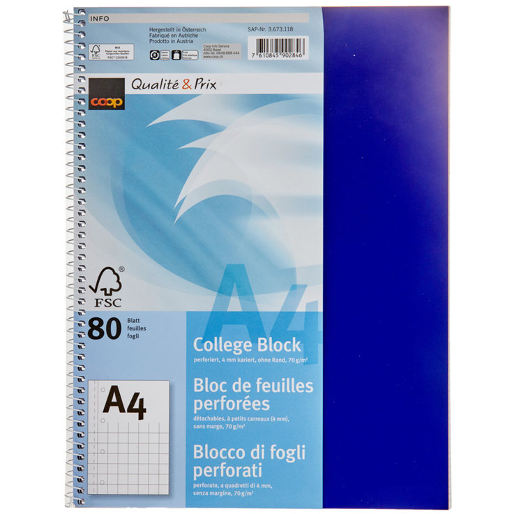 Notebooks - A4 Graph Paper Pad FSC