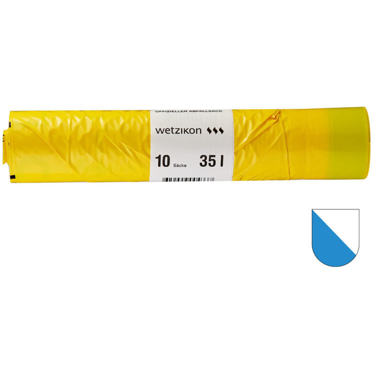 Waste bag charge - Wetzikon Taxed Garbage Bags 35 Litres 10 Pieces