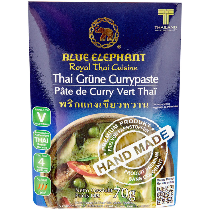 Curry Sauces - Blue Elephant Thai Green Curry Paste