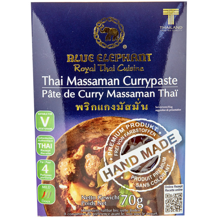 Sauces curry - Blue Elephant Pâte de curry Massaman thaï