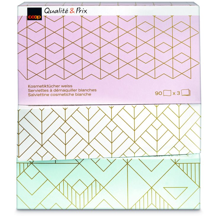 Facial Tissues - Makeup Removal Tissues 3x90 Pieces