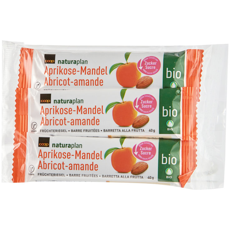 Bars without Chocolate - Naturaplan Organic Apricot Almond Fruit Cereal Bars 3 Pieces